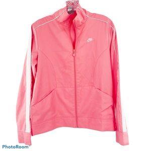 NIKE Pink White Zip up Track Athletic Jacket